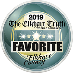 2019 Elkhart Truth Favorite of Elkhart County Badge