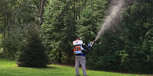 Our team spraying for mosquitos Granger, IN.